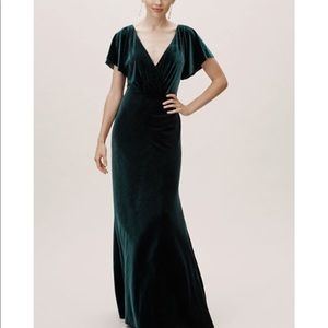 Jenny Yoo Ellis Velvet Dress